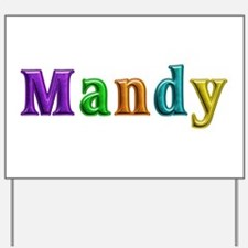 Mandy Shiny Colors Yard Sign