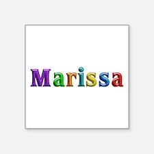 Marissa Shiny Colors Square Sticker