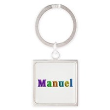 Manuel Shiny Colors Square Keychain