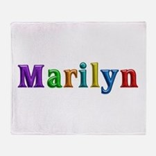 Marilyn Shiny Colors Throw Blanket