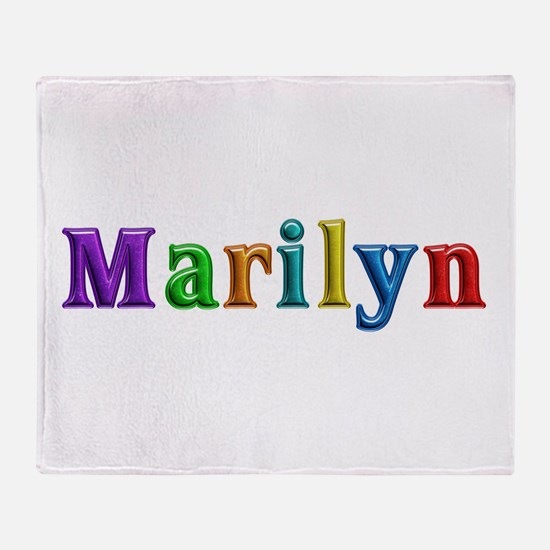 Marilyn Shiny Colors Throw Blanket
