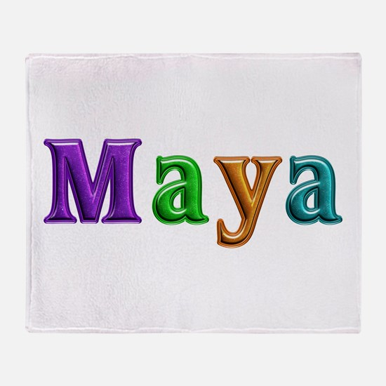 Maya Shiny Colors Throw Blanket