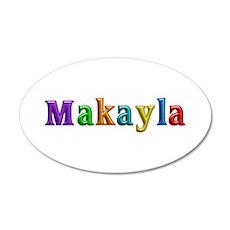 Makayla Shiny Colors 20x12 Oval Wall Decal