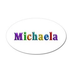 Michaela Shiny Colors 35x21 Oval Wall Decal