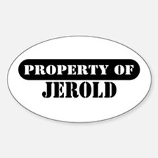 Property of Jerold Oval Decal
