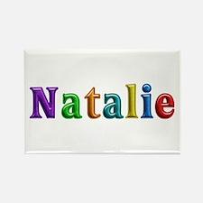 Natalie Shiny Colors Rectangle Magnet
