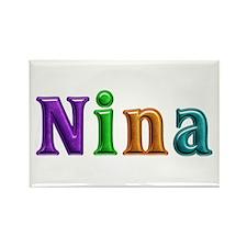 Nina Shiny Colors Rectangle Magnet