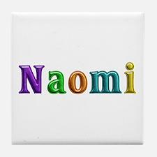 Naomi Shiny Colors Tile Coaster