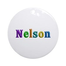 Nelson Shiny Colors Round Ornament