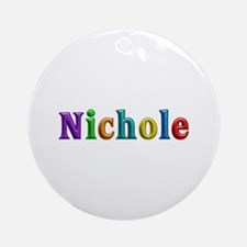 Nichole Shiny Colors Round Ornament