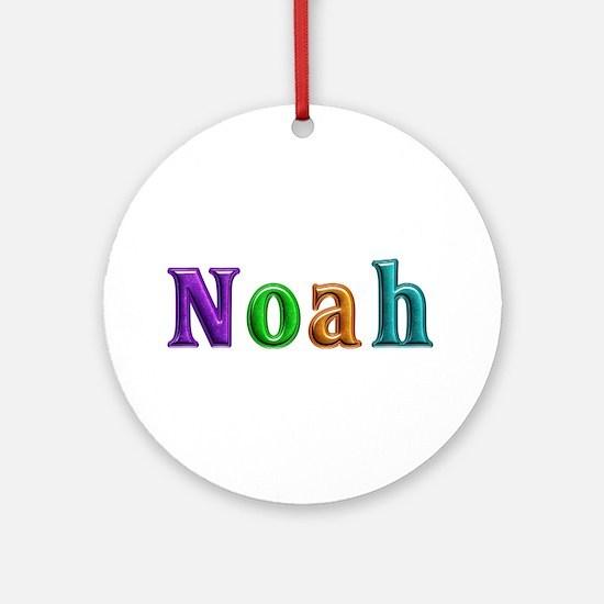 Noah Shiny Colors Round Ornament