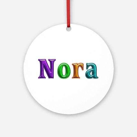 Nora Shiny Colors Round Ornament