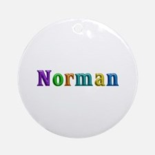 Norman Shiny Colors Round Ornament