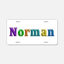 Norman Shiny Colors Aluminum License Plate