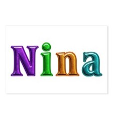Nina Shiny Colors Postcards 8 Pack