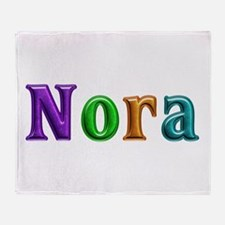 Nora Shiny Colors Throw Blanket