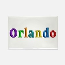 Orlando Shiny Colors Rectangle Magnet