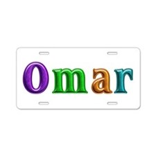 Omar Shiny Colors Aluminum License Plate
