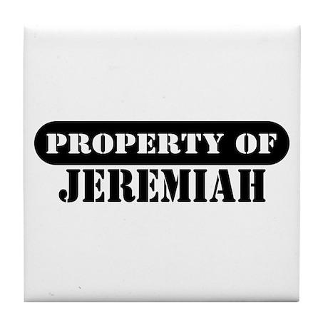 Property of Jeremiah Tile Coaster