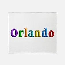 Orlando Shiny Colors Throw Blanket