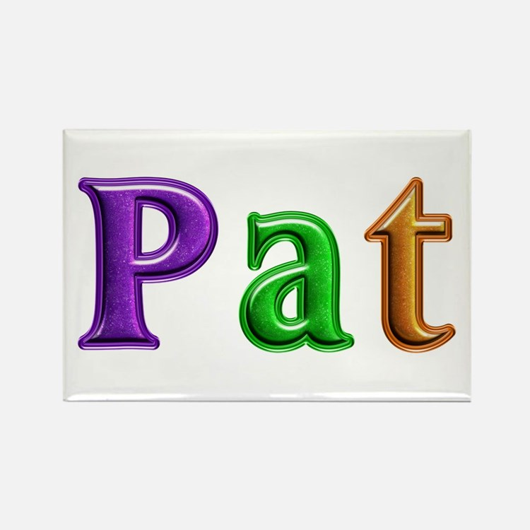 Pat Shiny Colors Rectangle Magnet