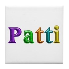Patti Shiny Colors Tile Coaster