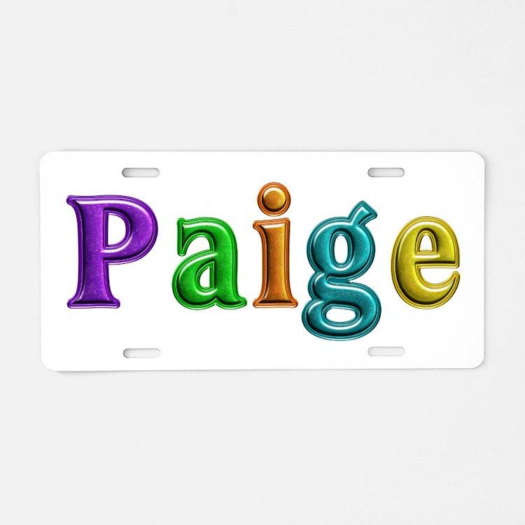 Paige Shiny Colors Aluminum License Plate