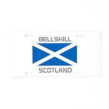 Bellshill Scotland Aluminum License Plate