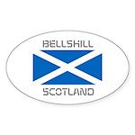 Bellshill Scotland Sticker (Oval 10 pk)