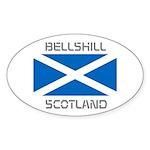 Bellshill Scotland Sticker (Oval 50 pk)