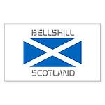 Bellshill Scotland Sticker (Rectangle 50 pk)