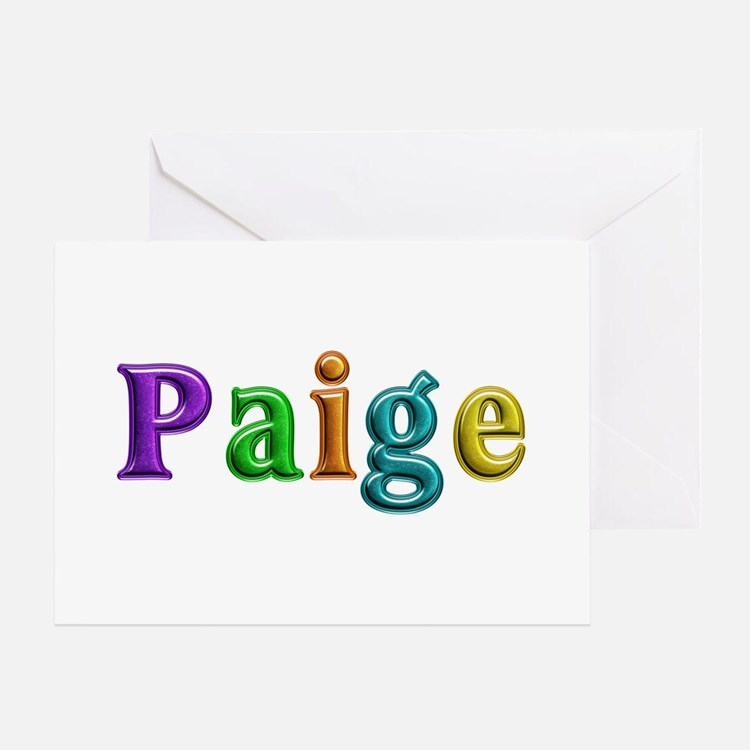 Paige Shiny Colors Greeting Card