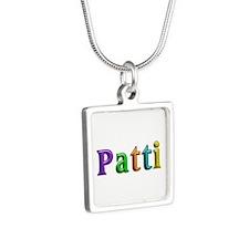 Patti Shiny Colors Silver Square Necklace