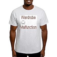 Ash Grey Wardrobe Malfunction T-Shirt