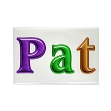 Pat Shiny Colors Rectangle Magnet 100 Pack
