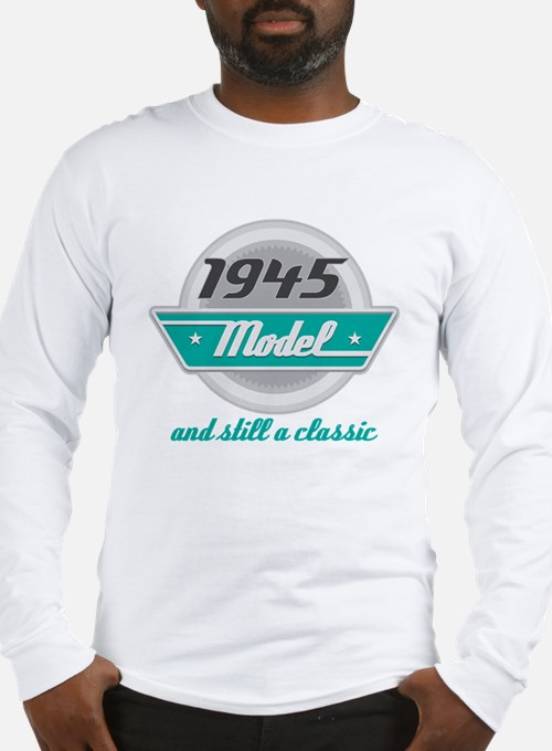 1945 Birthday Vintage Chrome Long Sleeve T-Shirt
