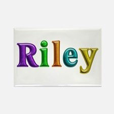 Riley Shiny Colors Rectangle Magnet