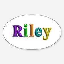 Riley Shiny Colors Oval Decal