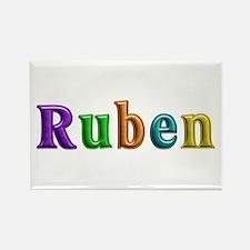 Ruben Shiny Colors Rectangle Magnet