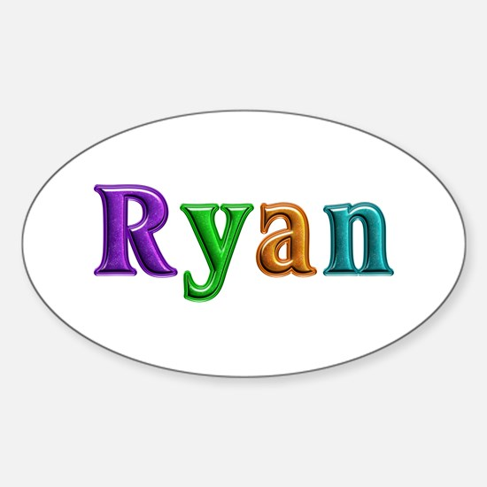 Ryan Shiny Colors Oval Bumper Stickers