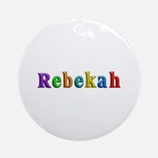 Rebekah Shiny Colors Round Ornament