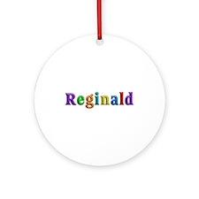 Reginald Shiny Colors Round Ornament