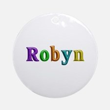 Robyn Shiny Colors Round Ornament