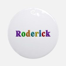 Roderick Shiny Colors Round Ornament