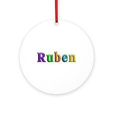 Ruben Shiny Colors Round Ornament