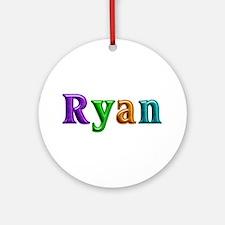 Ryan Shiny Colors Round Ornament