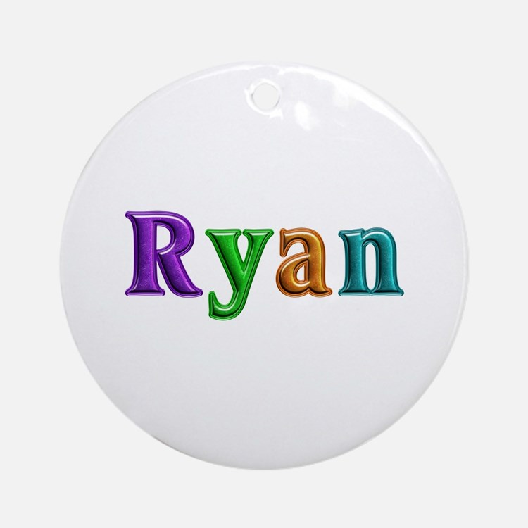Ryan Shiny Colors Round Ornament