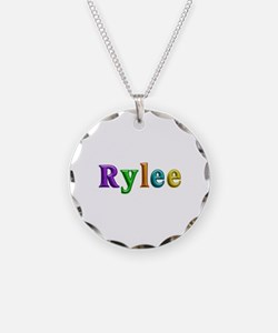 Rylee Shiny Colors Necklace Circle Charm