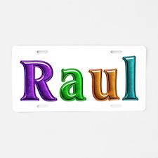 Raul Shiny Colors Aluminum License Plate