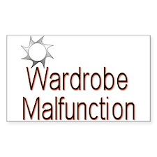 Wardrobe Malfunction Sticker (Rectangula